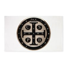 St. Benedict Medal 3'x5' Area Rug