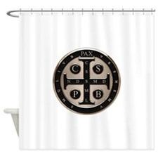 St. Benedict Medal Shower Curtain