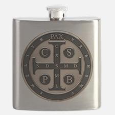 St. Benedict Medal Flask