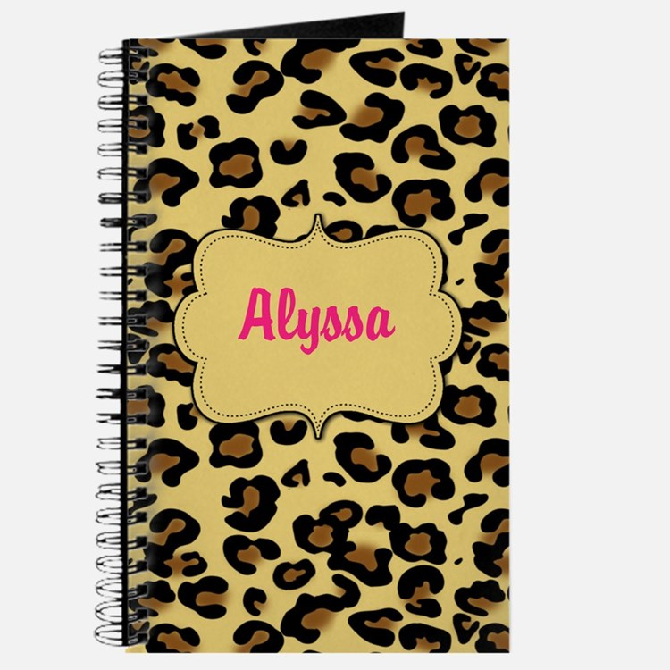 Cheetah Print Pink Personalized Journal