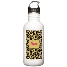 Cheetah Print Pink Personalized Water Bottle