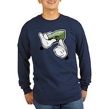 Fat Stacks Cartoon Hands Long Sleeve T-Shirt