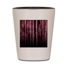 Digital Rain - Red Shot Glass