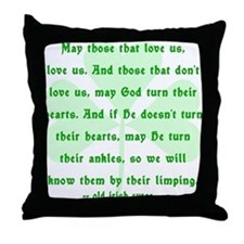 Irish Curse or Toast Throw Pillow