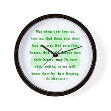 Irish Curse or Toast Wall Clock