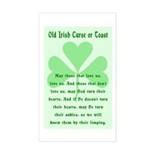 Irish Curse or Toast Rectangle Decal