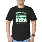 Funny christmas Fitted T-shirts (Dark)