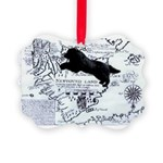 Newfoundland Dog Map Ornament