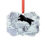 Newfoundland Dog Map Ornament