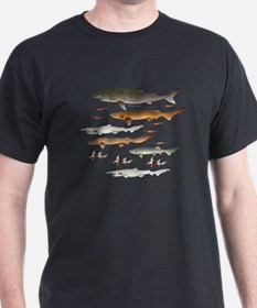 Deep Sea Sharks School 2 c T-Shirt