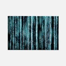 Digital Rain - Blue Rectangle Magnet