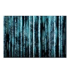Digital Rain - Blue Postcards (Package of 8)