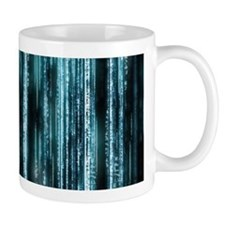 Digital Rain - Blue Mug