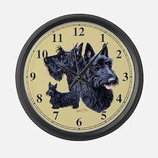 Scottish Terrier Large Wall Clock