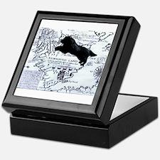 Newfoundland dog Map Keepsake Box