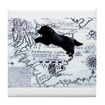 Newfoundland dog Map Tile Coaster