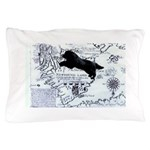Newfoundland dog Map Pillow Case