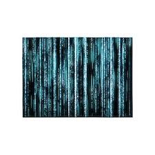 Digital Rain - Blue 5'x7'Area Rug