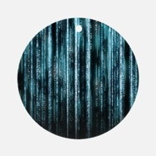 Digital Rain - Blue Ornament (Round)