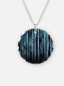 Digital Rain - Blue Necklace