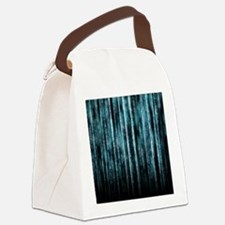 Digital Rain - Blue Canvas Lunch Bag