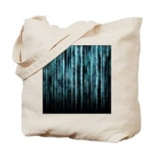 Digital Rain - Blue Tote Bag