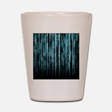 Digital Rain - Blue Shot Glass
