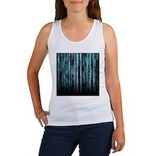 Digital Rain - Blue Women's Tank Top