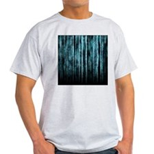 Digital Rain - Blue T-Shirt