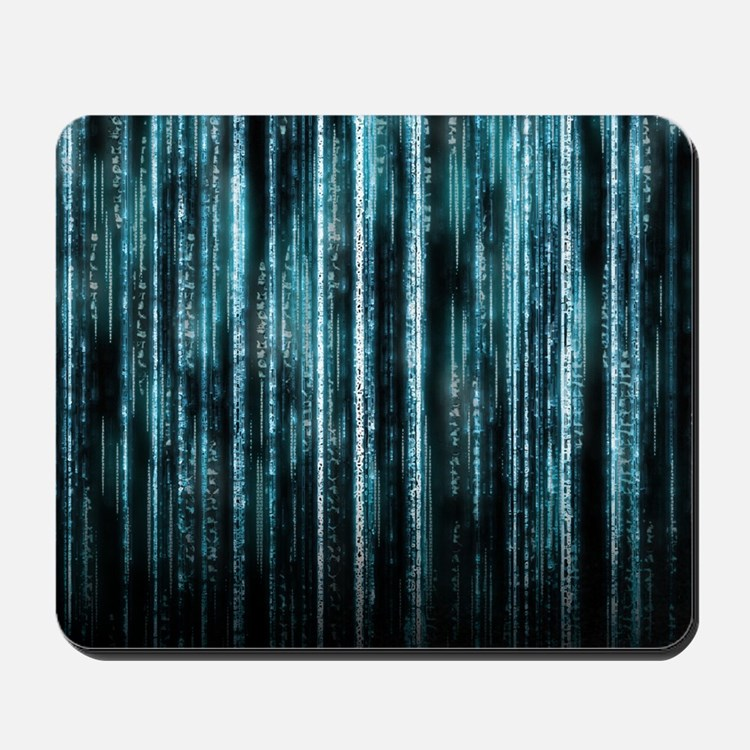 Digital Rain - Blue Mousepad
