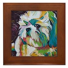 Shih Tzu - Grady Framed Tile