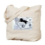 Newfoundland dog Map Tote Bag