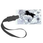 Newfoundland dog Map Luggage Tag