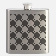 BLACK AND WHITE CIRCLES Flask