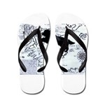 Newfoundland dog Map Flip Flops