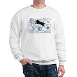Newfoundland dog Map Sweatshirt