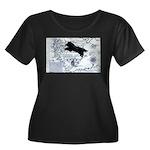Newfoundland dog Map Plus Size T-Shirt