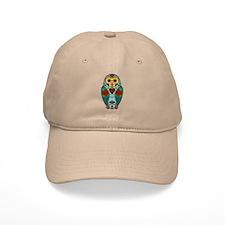 Sugar Skull Barn Owl Color Baseball Cap