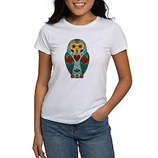 Sugar Skull Barn Owl Color Tee
