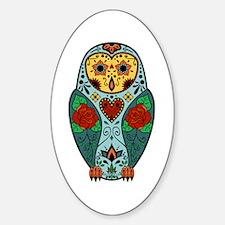 Sugar Skull Barn Owl Color Decal