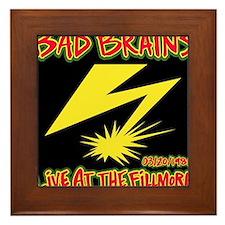 Bad Brains Live at the Fillmore 1982 Framed Tile