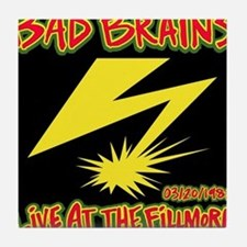 Bad Brains Live at the Fillmore 1982 Tile Coaster
