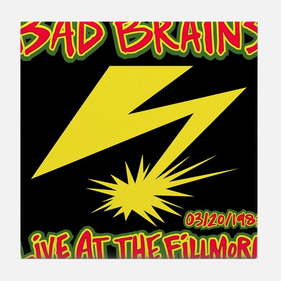 Bad Brains Live at the Fillmore 1982 Tile Coaster