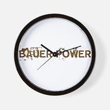Bauer Power Wall Clock