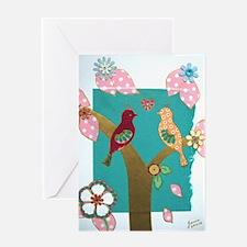Lovebirds signed artwork Greeting Cards