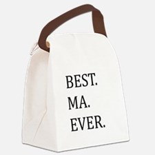 Best Ma Ever Canvas Lunch Bag