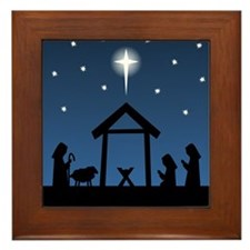Christmas Nativity Framed Tile