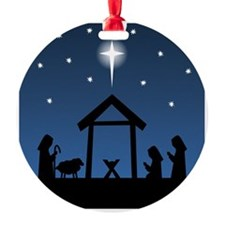 Christmas Nativity Round Ornament