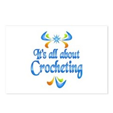 About Crocheting Postcards (Package of 8)