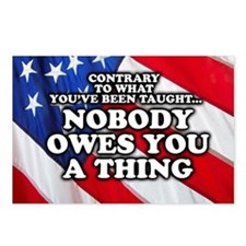 Nobody Owes You A Thing W Postcards (Package of 8)
